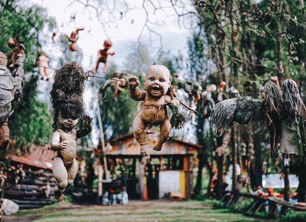 世界十大最恐怖的地方1、墨西哥娃娃岛