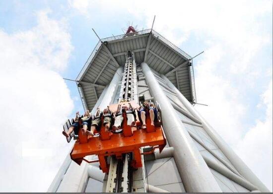 世界上最高的跳楼机:广州塔极速云霄