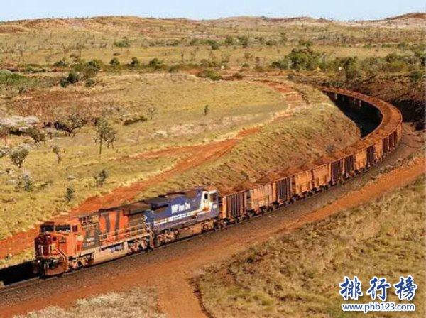 世界上最长的火车,共有八个车头682节车厢(长7353米)