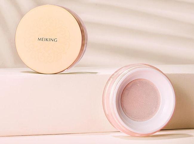 散粉品牌排行榜前十名3、美康粉黛玫瑰植物散粉
