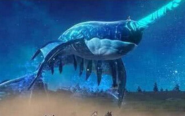 上古大荒十大凶兽排名九、裂海玄龙鲸