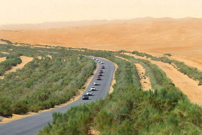 中国风景最美的10条自驾游公路五、塔里木沙漠公路